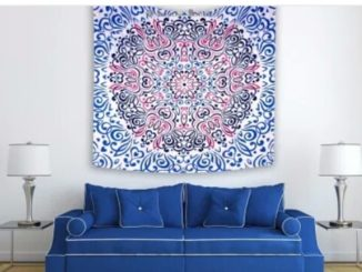 Wallpaper Mandala Warna Blue Elektrik