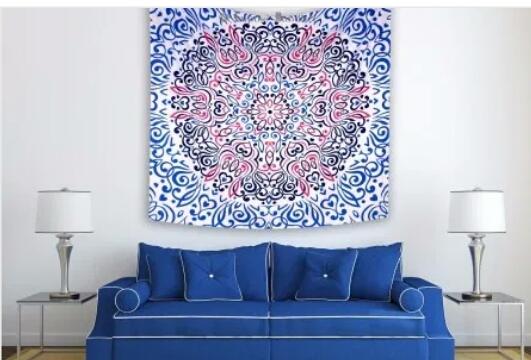 Wallpaper Mandala Warna Blue Elektrik